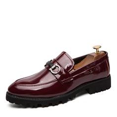 Homens Couro Brilhante Loafer Horsebit Casual Sapatos De Vestido Mocassins Masculinos