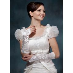Elastisk Satin Elbow Längd Handskar Bridal