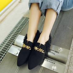 Vrouwen Suede Flat Heel Flats Closed Toe met Keten schoenen