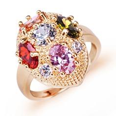 Attractive Zircon/Platinadas Senhoras Anéis