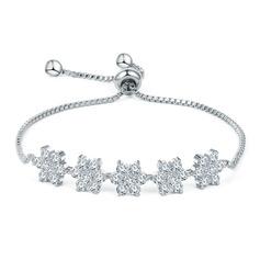 Schakelketting Bruids armbanden Bruidsmeisje armbanden Bolo armbanden met Kubieke Zirkonia - Valentijnsgeschenken Voor Haar