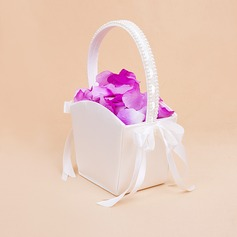 Elegant Blumenkorb mit Bogen/Faux-Perlen (102018039)