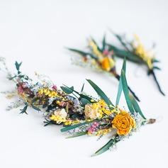 Damer Spesielle Silke blomst Kammer og Barrettes