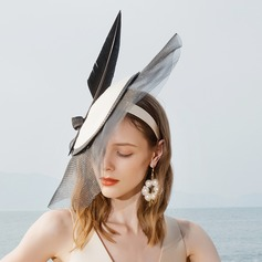 Ladies' Special/Glamourous/Elegant/Eye-catching Polyester With Feather Fascinators
