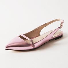 De mujer Cuero Tacón plano Planos Solo correa zapatos