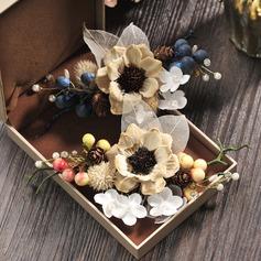 Senhoras Bonito Flor de seda Pentes & presilhas (Vendido em uma única peça)