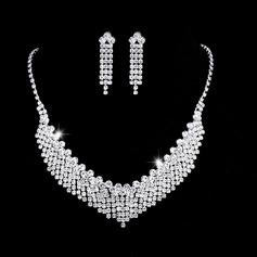Senhoras Chic Strass com Almofada Conjuntos de jóias