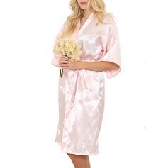 Icke Personlig Satäng Brud brudtärna Blank Robes