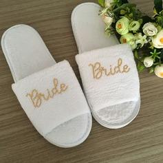 Bride Gaver - fløyel klut tøfler (255174718)