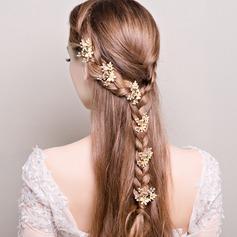 Dames Heerlijk Strass/Legering/Imitatie Parel Haarspelden (Set van 6)
