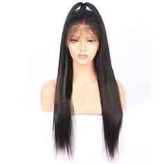 4A non remy Tout droit Cheveux humains Perruques en dentelle pleine
