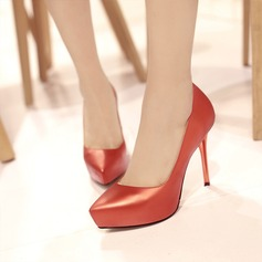 Kvinnor Konstläder Stilettklack Pumps Plattform skor