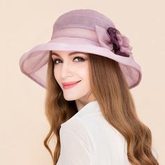 Señoras' Elegante Seda con Flores de seda Bombín / cloché Sombrero