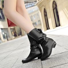 Mulheres Couro Salto baixo Sem salto Botas com Outros sapatos