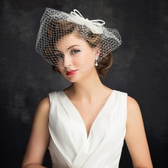 Ladies' Charming Imitation Pearls/Tulle With Imitation Pearls/Bowknot/Tulle Fascinators/Kentucky Derby Hats/Tea Party Hats