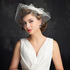 Ladies ' Charmen Imiteret Pearl/Tyl med Imiteret Pearl/Bowknot/Tyl Fascinators/Kentucky Derby Hatte/Tea Party Hats