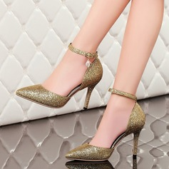 Women's Sparkling Glitter Stiletto Heel Pumps Closed Toe With Sparkling Glitter shoes