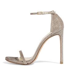 Mulheres Espumante Glitter Salto agulha Sandálias sapatos