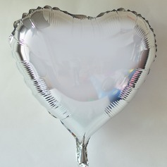 10pcs - 10inch Silver Heart Shaped Balloons (set of 10)