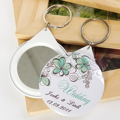 Personalized Floral Design Plastic Keychains/Compact Mirror (Set of 5) (118030143)