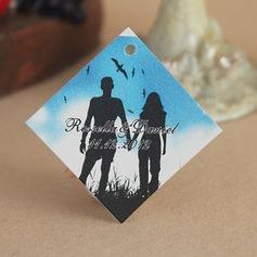 """Personalizado """"Romântico"""" papel cartão duro Marcações (Conjunto de 30)"""