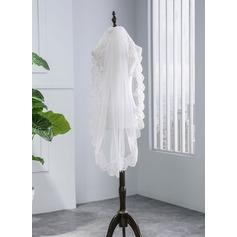 Einschichtig Spitze Saum Ellenbogen Braut Schleier mit Lace (006141343)