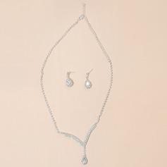 Romantic Alloy/Rhinestones Ladies' Jewelry Sets