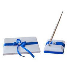 Pretty Bow/Sash Guestbook & Pen Set