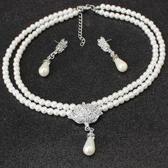 Vackra Och Fauxen Pärla Damer' Smycken Sets