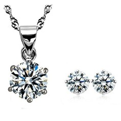 Gorgeous Zircon/Metal Ladies' Jewelry Sets
