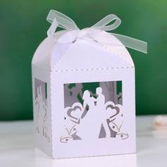 Braut u. Bräutigam Quader Geschenkboxen mit Bänder