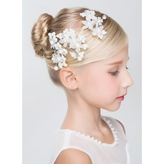 Soie artificielle/De faux pearl avec De faux pearl épingles à cheveux (Lot de 3)