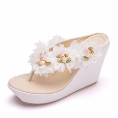 Vrouwen PU Wedge Heel Sandalen Wedges schoenen
