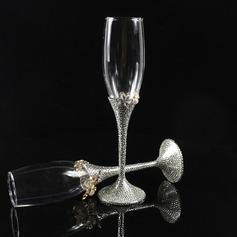 Beautiful Toasting Flutes With Rhinestone (Set Of 2)