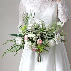 Blooming Cascade Cloth Bridal Bouquets -