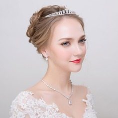 Elegant Alloy/Zircon Ladies' Jewelry Sets