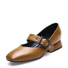 Kvinder PU Stor Hæl med Spænde Lynlås sko