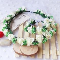 Seda/Papel com Flor flor Headband