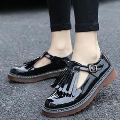 Женщины кожа Плоский каблук На плокой подошве с пряжка кисточкой обувь