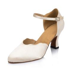 Femmes Satiné Talons Escarpins Salle de bal Chaussures de danse