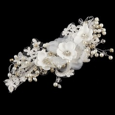 Beautiful Crystal/Imitation Pearls/Artificial Silk/Lace Flowers & Feathers