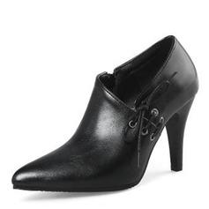 Kvinnor PU Cone Heel Pumps Stängt Toe med Bandage skor