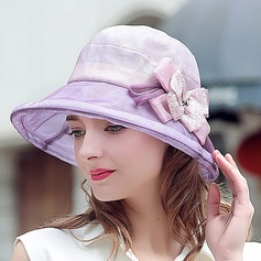 Ladies' Beautiful/Lovely Silk With Bowknot Bowler/Cloche Hat