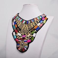 Eksotisk Stof Perler Ladies ' Fashion Halskæde (Sælges i et enkelt stykke)