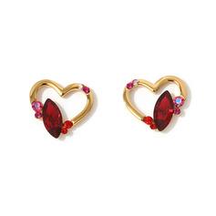 Signore A forma di cuore Cristallo/rame con Marquise Cristallo Orecchini Per Lei (011228411)
