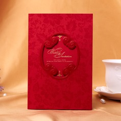 Floral Style Tri-Fold Invitation Cards (Set of 50) (114038973)