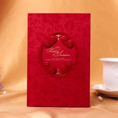 Blommig Stil Tri-Fold Invitation Cards (Sats om 50) (114038973)