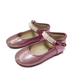 Flicka sparkling blänker platt Heel Stängt Toe Platta Skor / Fritidsskor med Beading Bowknot Glittrande Glitter Kardborre
