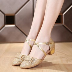 Kids' Sparkling Glitter Heels Sandals Ballroom Dance Shoes