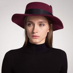 Damer' Vackra Och/Klassisk stil/Elegant Ull Diskett Hat